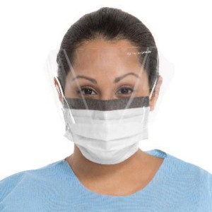 FLUIDSHIELD* Level 1 Fog-Free Procedure Mask with WrapAround Visor, SO SOFT* Lining