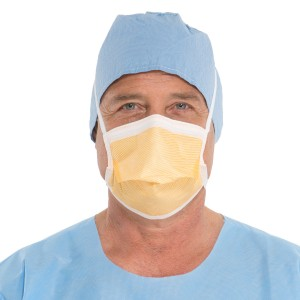 FLUIDSHIELD* Level 3 Duckbill Surgical Mask with SO SOFT* Lining, Orange