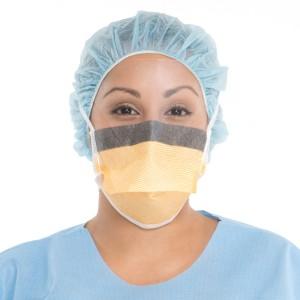 FLUIDSHIELD* Level 3 Duckbill Surgical Mask with SO SOFT* Lining, Anti-Glare WrapAround Visor, Orange