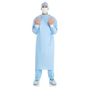 Halyard Surgical Gown, Fabric-Reinforced, Raglan Sleeves, XX-Large, Non-Sterile,
