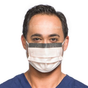 FLUIDSHIELD* Level 3 Fog-Free Procedure Mask with SO SOFT* Lining, Visor, Orange