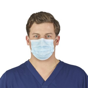 HALYARD* Blue Level 2 Procedure Mask with Earloops