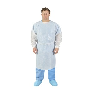 HALYARD* Poly-Coated Fluid Resistant Gown