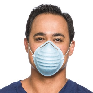 Standard Cone Mask with Headband, Blue